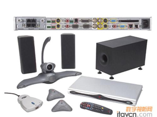 多项高清技术的宝利通全新视频会议终端k80,上级连接位于西宁的mcu,再