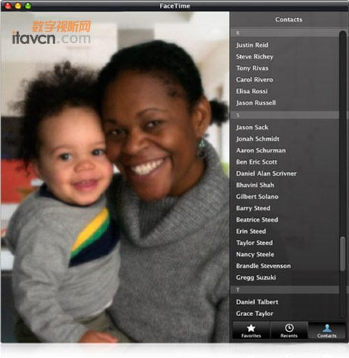 this:; 电脑手机视频通话 苹果发布mac;   facetime for mac软件界面
