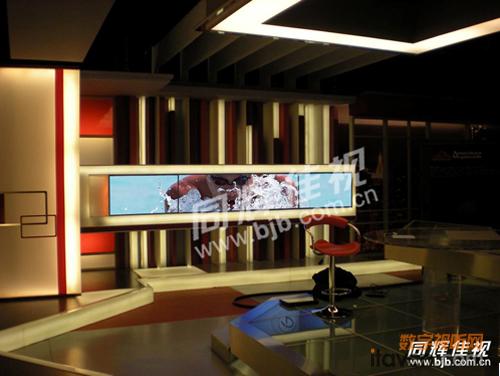 电视台墙_延安电视台现代餐厅墙上置物架装修设计效果图