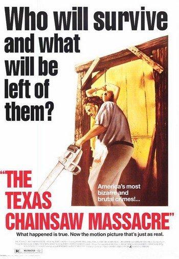 1974年版《德州电锯杀人狂》海报据报道,3D版《德州电锯杀...