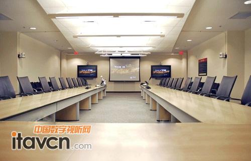 veeno合作伙伴ang为医院会议室改造项目配备了els4000无线智能会议图片