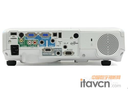 接口方面,爱普生eb-c2040xn投影机配备有hdmi高清接口,双vga输入接口