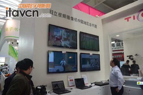 日立摄像机效果监视屏视频监控画面