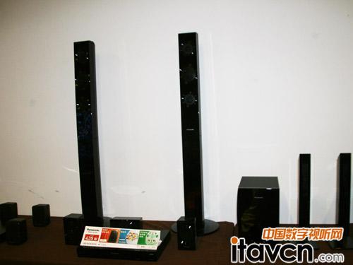 松下展出sc-pt875无线家庭影院系统