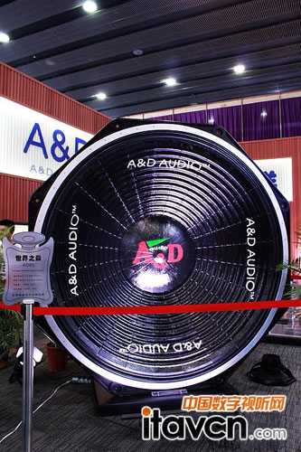 a&d audio展出80寸世界最大扬声器ad80_专业音响-中国