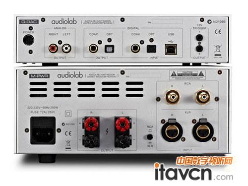 audiolab m-pwr则是一款紧凑型的立体声功放,采用单端rca和xlr平衡