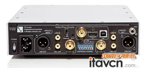 npc具有一对唱头输入,一对模拟音频输入,输出则具有usb接口及xlr全