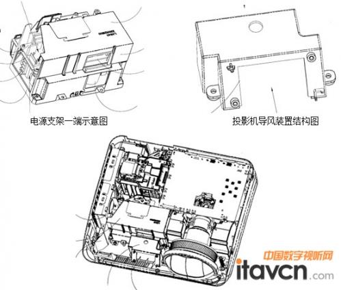 雅图新专利《投影机电源组件冷却系统》
