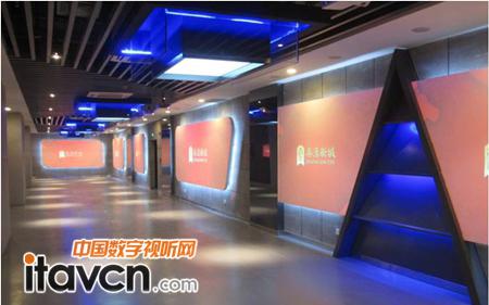 秦漢新城異型面投影走廊效果圖