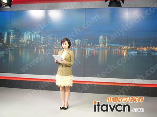 上海教育电视台cima等离子大屏通过验收