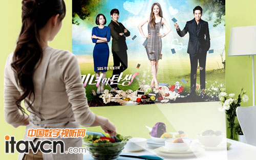 三,厨房看韩剧 女士更满意 美高g3卓越微型投影机,小巧便携,具有100%