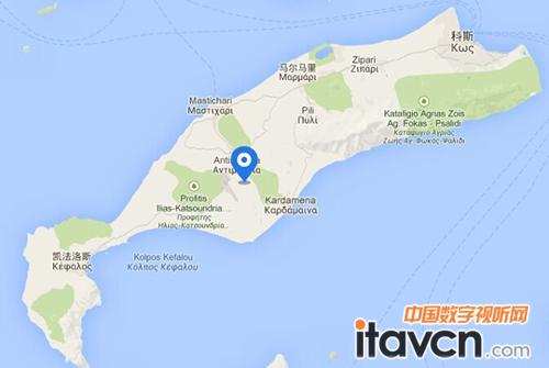 科斯岛地图