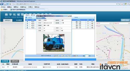 gps车辆定位监控子系统显示