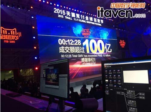 实时数据展示 ventuz细说2015双十一_大屏拼接-中国图片