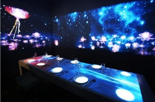 别具创意的激光互动投影餐厅图片