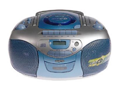 AM/FM/FM 立体声 前开式卡座仓门 VCD/CD 可录音至磁带
