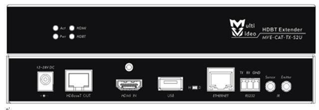 宽博HDMI信号双绞线延长器MVE-CAT-S2U