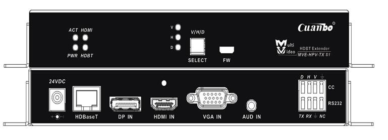 宽博MVE-HPV-Tx-S1多格式信号双绞线延长器