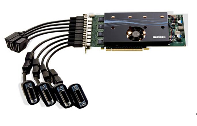 彩讯M9188 PCIe x16八显示器图形卡多屏卡