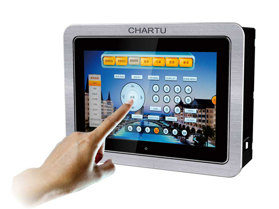 CHARTU长图CH-P8L 8英寸嵌墙有线画中画可编程触摸屏
