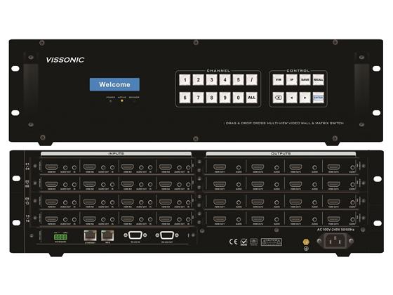 VISSONIC议朗VW-VM1616视频矩阵拼接处理器