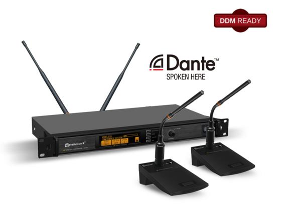 力卡电子WDC-903 Dante数字无线会议讨论系统